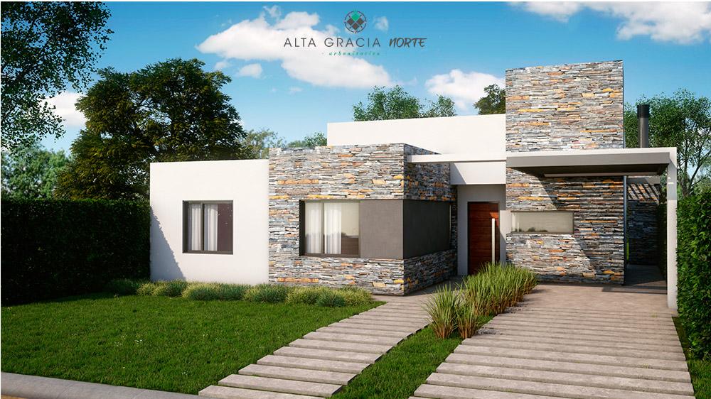 Quiero mi casa alta gracia norte for Frentes de casas con piedras
